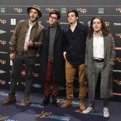 Morat en la alfombra roja de los 40 Principales Music Awards 2017