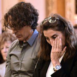 Paz Padilla y Juan Vidal en el funeral de Chiquito de la Calzada