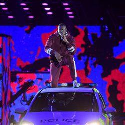 Stormzy durante su actuación en los MTV EMA 2017