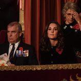El Duque de York y Kate Middleton en el concierto por el Día del Recuerdo 2017
