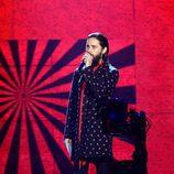 Jared Leto en la gala de los los MTV EMA 2017