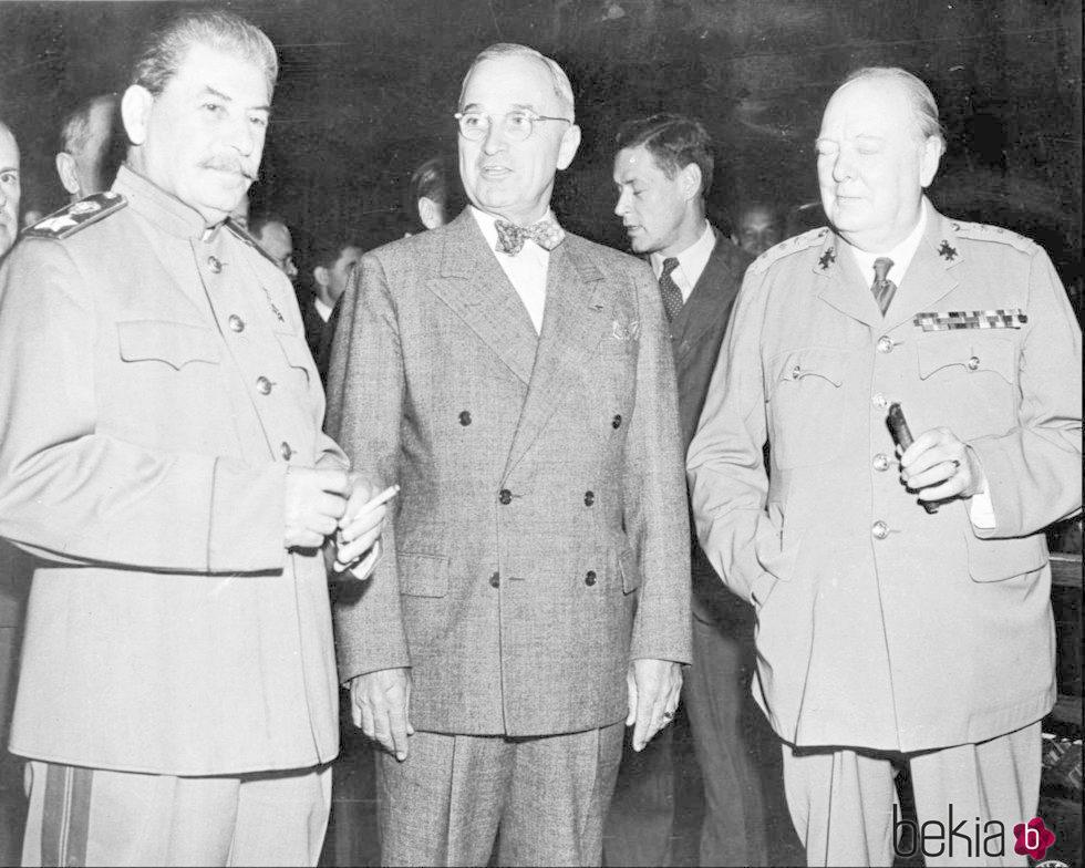 Stalin, Truman y Churchill en 1945