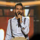 Juan Antonio cantando en la Gala 3 de 'Operación Triunfo'