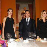 La Reina Letizia en una cena con Enrique Peña Nieto y Angélica Rivera en México