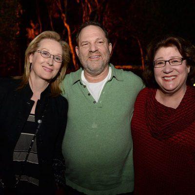 Harvey Weinstein, Meryl Streep y Margo Martindale promocionando 'August: Osage County'