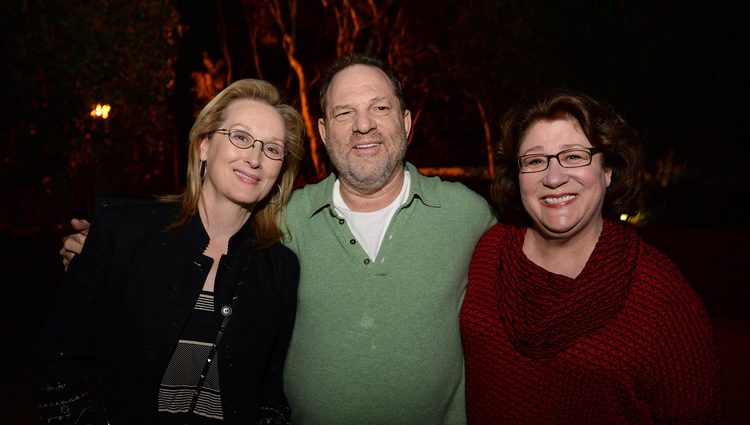 Harvey Weinstein, Meryl Streep y Margo Martindale promocionando 'August: Osage County'