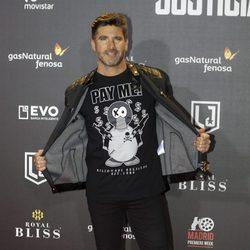 Toño Sanchís en la premier de 'La liga de la justicia'