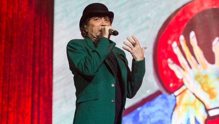 Joaquín Sabina en el concierto que sufrió pánico escénico