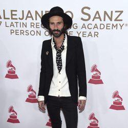 Leiva en la entrega del Premio Persona del Año 2017 de los Grammy Latinos