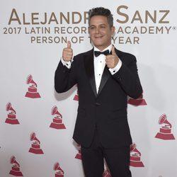 Alejandro Sanz en la entrega del Premio Persona del Año 2017 de los Grammy Latinos