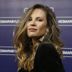 Jessica Bueno posando en un acto como imagen de la colección Esmara by Lidl en Madrid