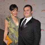 Tanya Haden y Jack Black en la gala homenaje a Clint Eastwood en Los Angeles