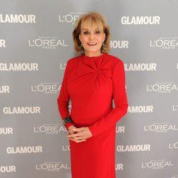 Barbara Walters en los premios Glamour de Nueva York