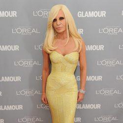 Donatella Versace en los premios Glamour de Nueva York