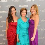 Barbara Bush, Laura Bush y Jenna Bush en los premios Glamour de Nueva York