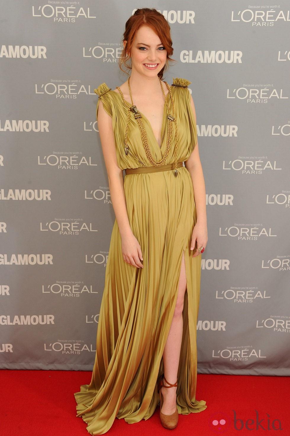 Emma Stone en los premios Glamour de Nueva York