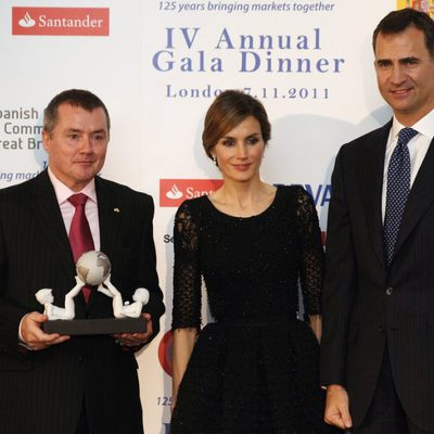 Los Príncipes de Asturias en la cena de gala celebrada en Londres