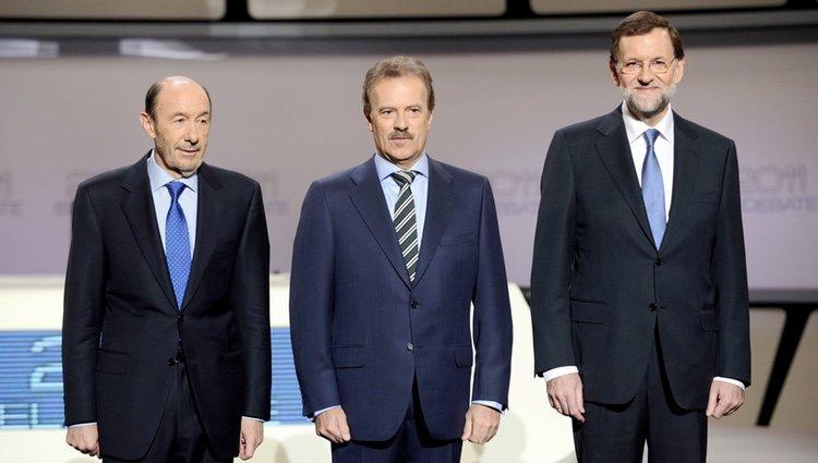 Debate electoral entre Rubalcaba y Rajoy