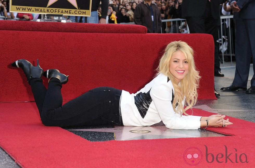 Shakira es la nueva estrella en el Paseo de la Fama de Los Angeles