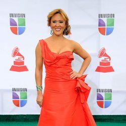 Tanya Charry en la alfombra roja de los Grammy Latinos 2011