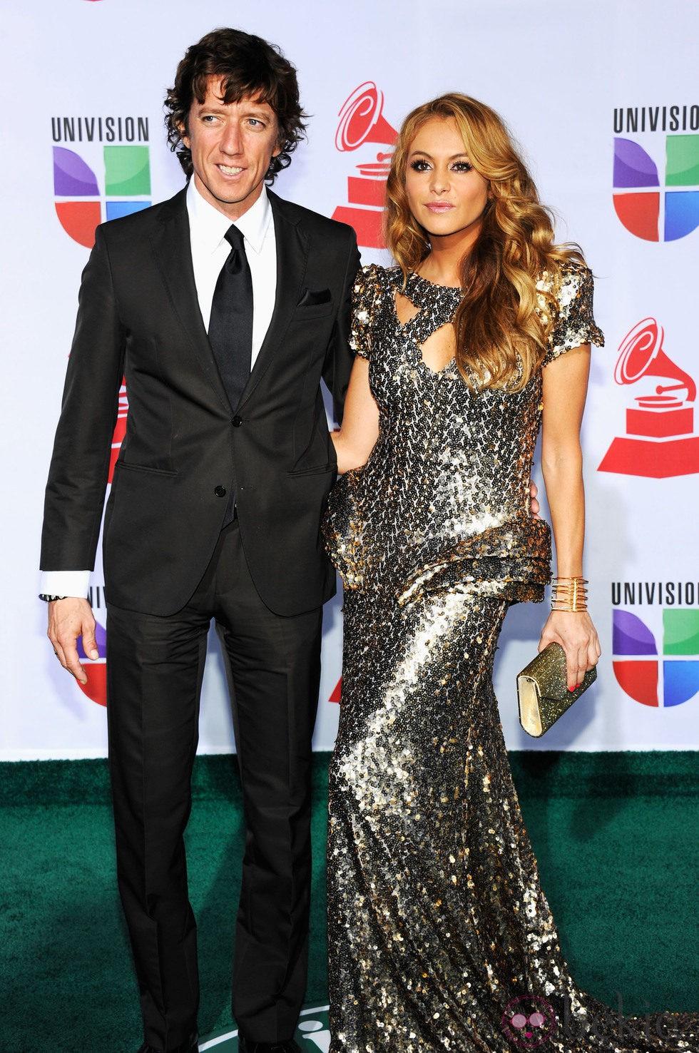 Paulina Rubio y Colate Vallejo-Nájera en los Grammy Latinos 2011