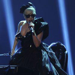 Lady Gaga durante su actuación en los Premios Bambi 2011