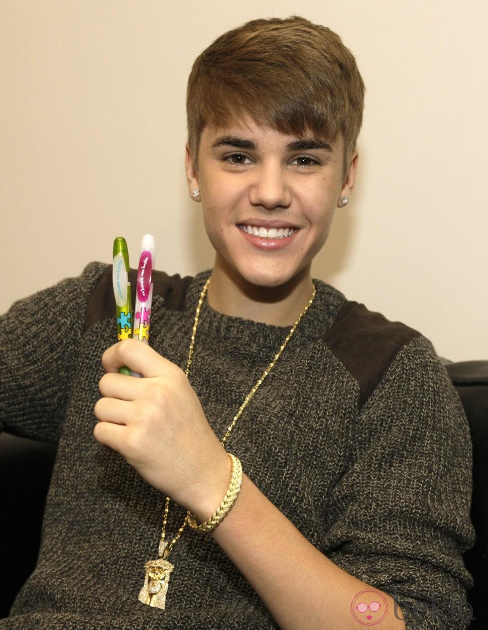Justin Bieber en la campaña 'Un juguete, una ilusión'