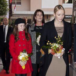Las Princesas Charlene y Carolina de Mónaco y Alexandra de Hannover