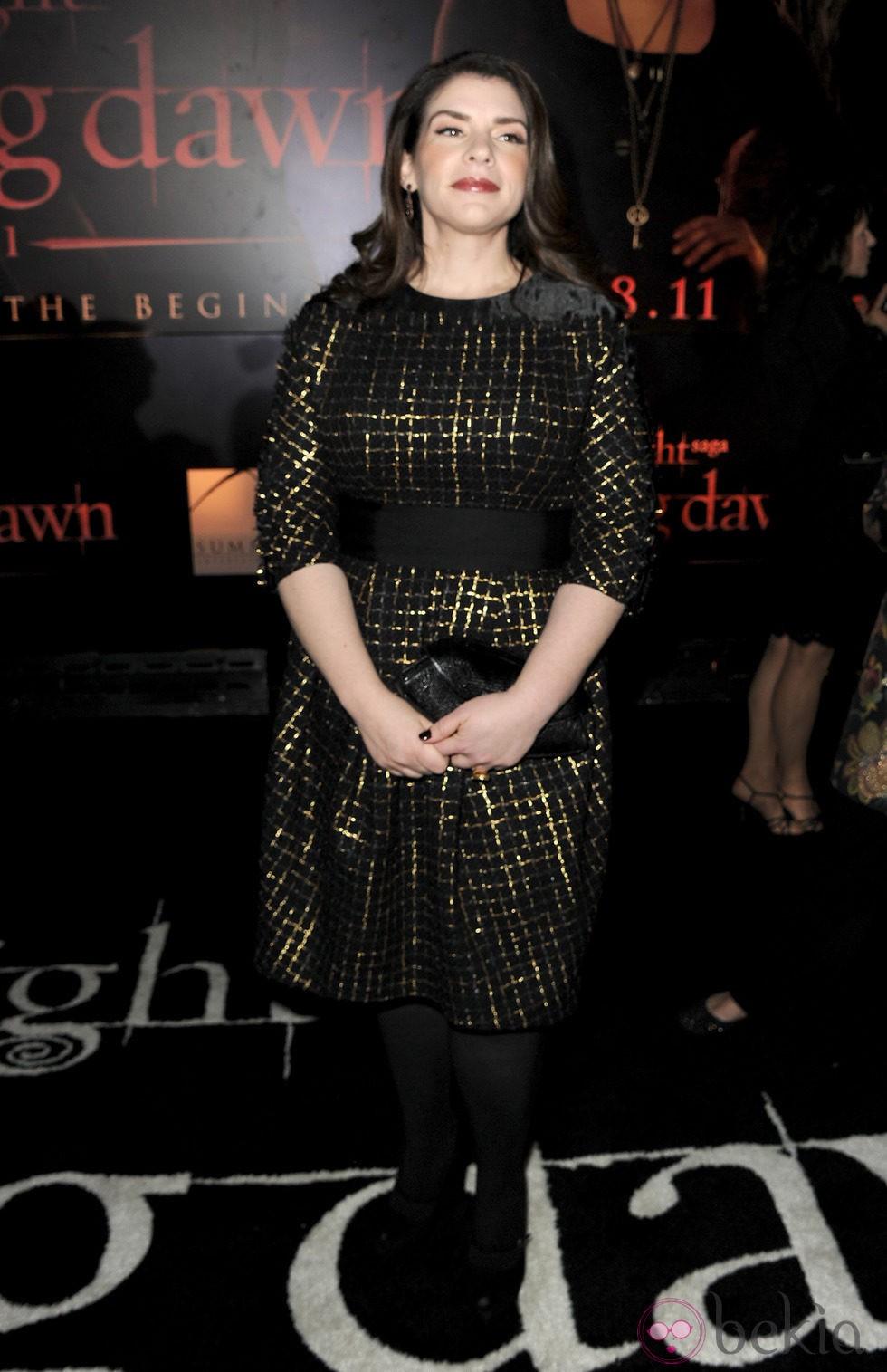 Stephenie Meyer en el estreno de 'Amanecer. Parte 1' en Los Ángeles