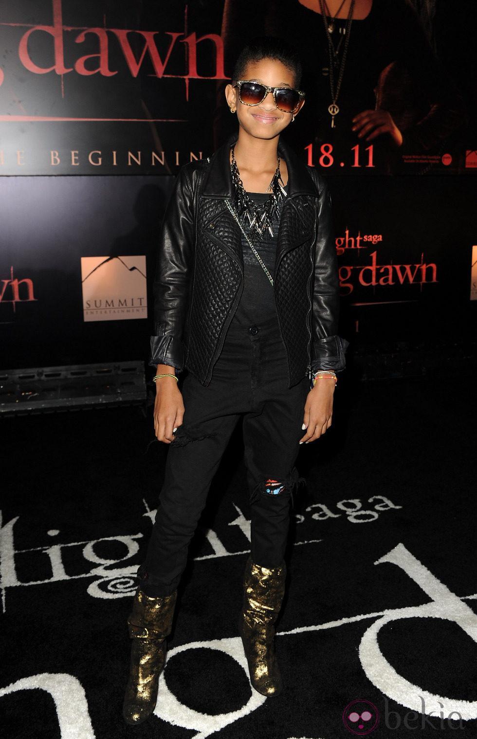 Willow Smith en el estreno de 'Amanecer. Parte 1' en Los Ángeles