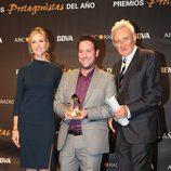 Judit Mascó, Carlos Latre y Luis del Olmo en los Premios Protagonistas 2011