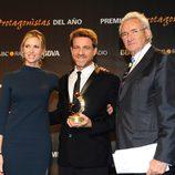 Judit Mascó, Juanjo Artero y Luis del Olmo en los Premios Protagonistas 2011