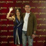 Antonio Banderas y Salma Hayek presentan 'El gato con botas' en México