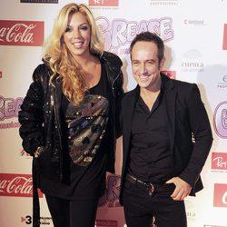 Rebeca y Víctor Sandoval en el estreno de 'Grease' en Barcelona