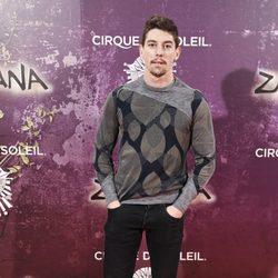 Adrián Lastra en el estreno de Zarkana