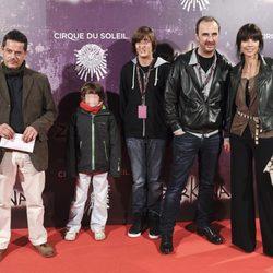 Jorge Sanz, Pedro Larrañaga y Maribel Verdú en el estreno de Zarkana