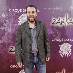 Antonio Molero en el estreno de Zarkana