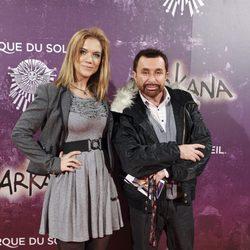 Beatriz Trapote y José Manuel Parada en el estreno de Zarkana
