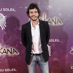 Javier Pereira en el estreno de Zarkana