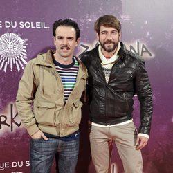 Raúl Peña y Félix Gómez en el estreno de Zarkana