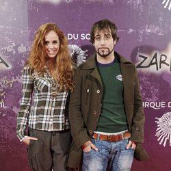 María Castro y Leandro Rivera en el estreno de Zarkana