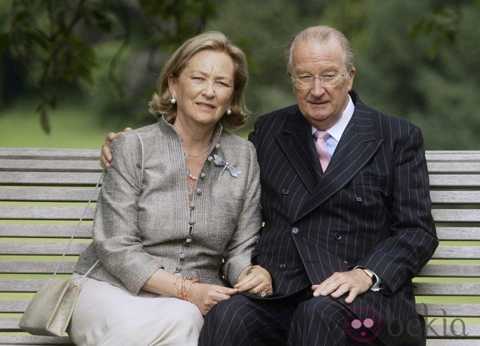 Los Reyes Alberto y Paola de Bélgica