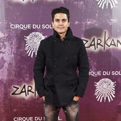 Álex González en el estreno de Zarkana