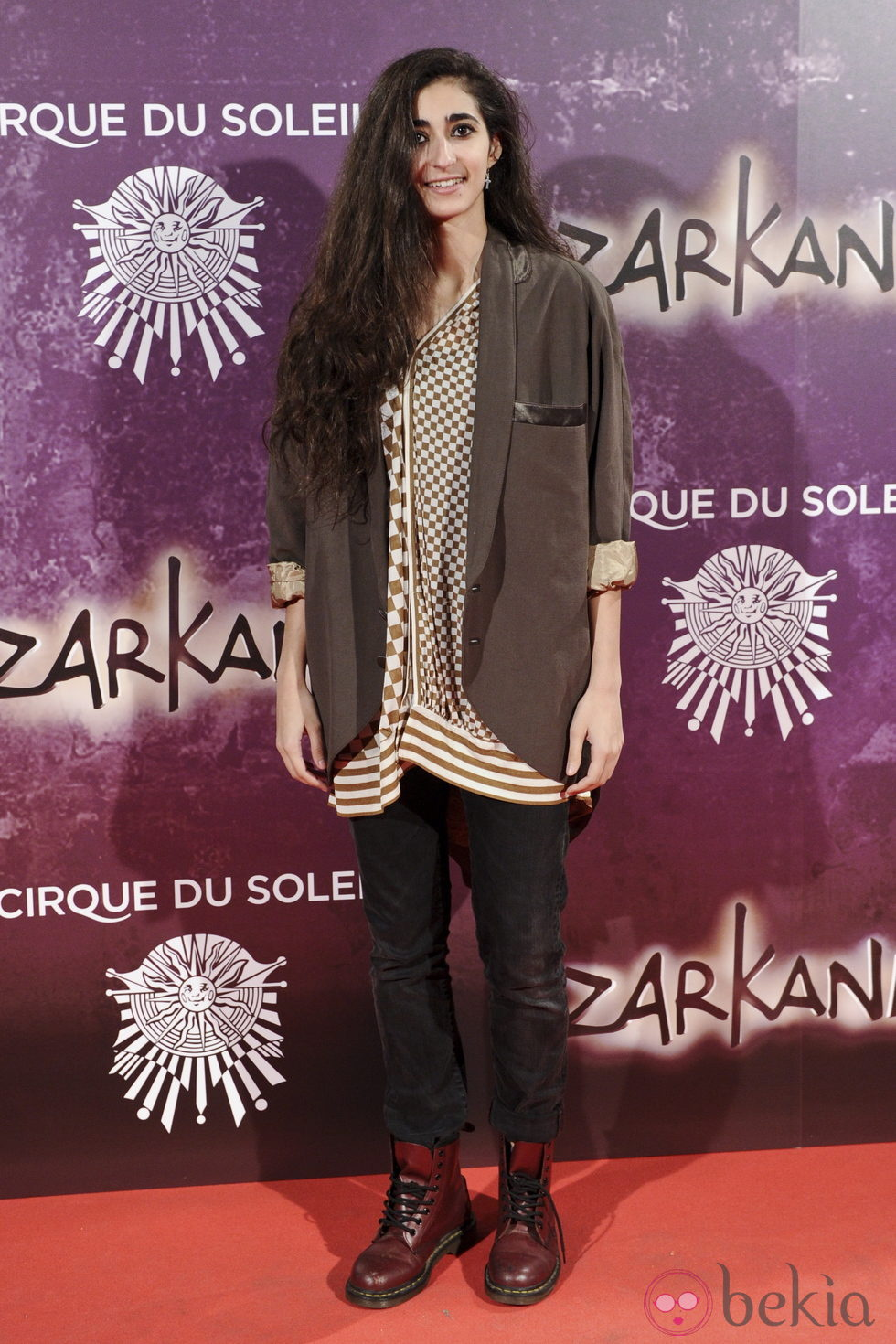 Alba Flores en el estreno de Zarkana