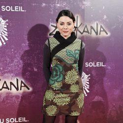 Ana Arias en el estreno de Zarkana