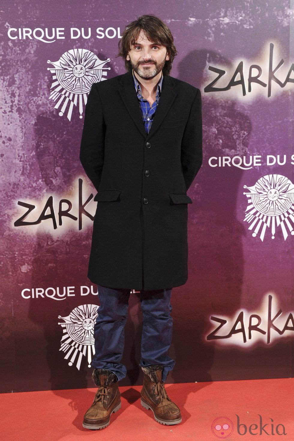 Fernando Tejero en el estreno de Zarkana