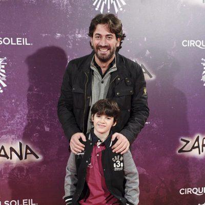 Antonio Garrido y Daniel Avilés en el estreno de Zarkana