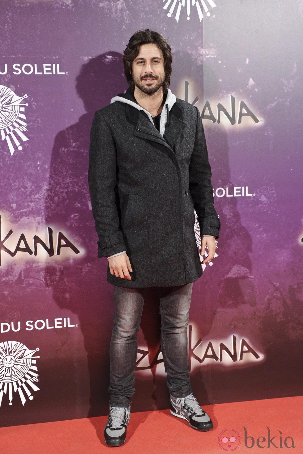 Hugo Silva en el estreno de Zarkana