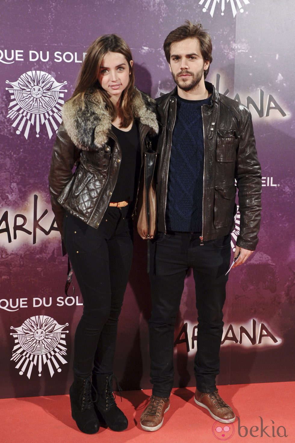 Ana de Armas y Marc Clotet en el estreno de Zarkana