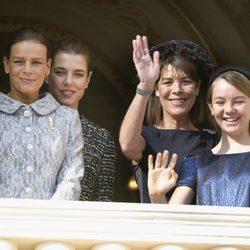 Estefanía y Carolina de Mónaco, Alexandra de Hannover y Carlota Casiraghi en el Día Nacional de Mónaco
